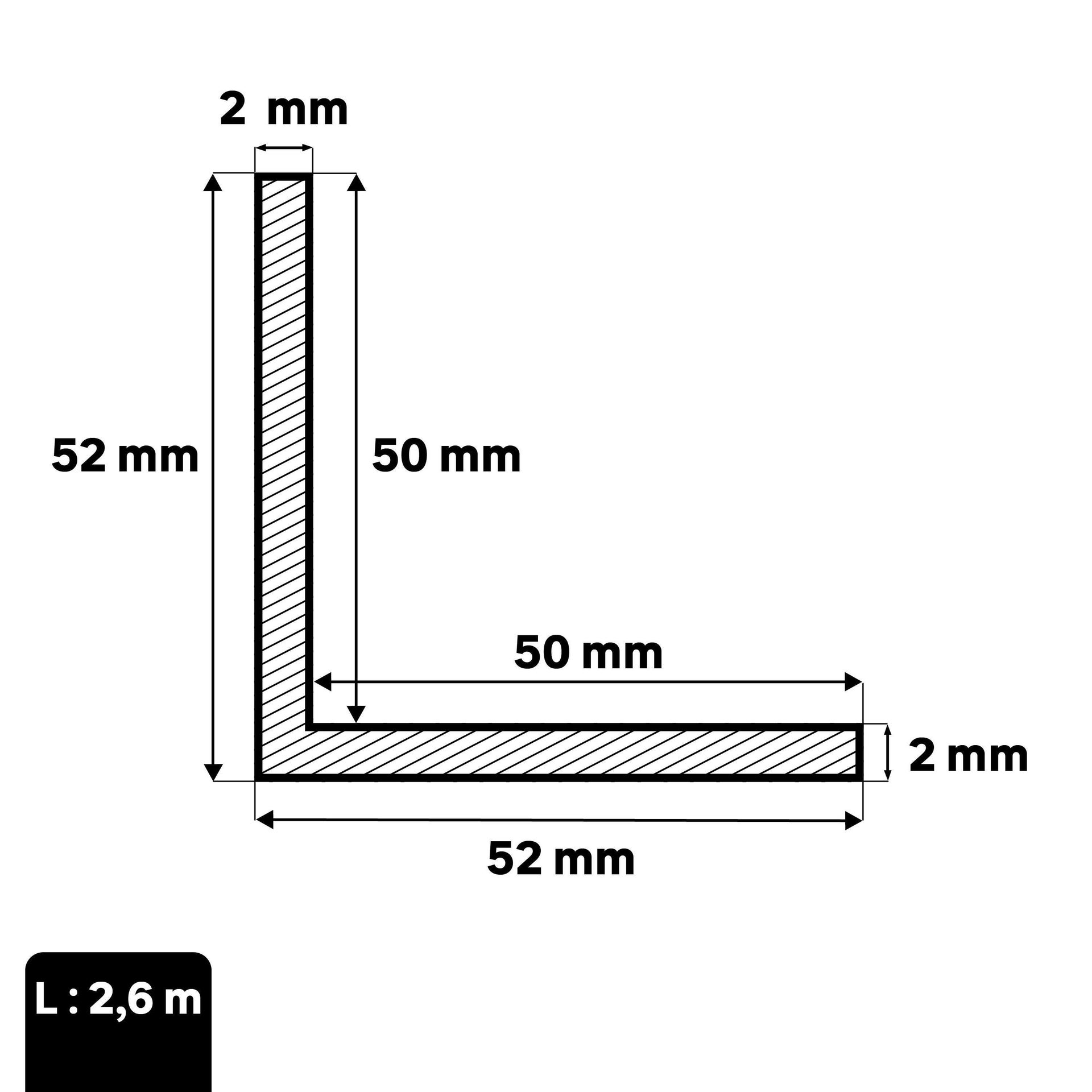 Profilo angolare simmetrico STANDERS in pvc 2.6 m x 5.2 cm bianco - 3