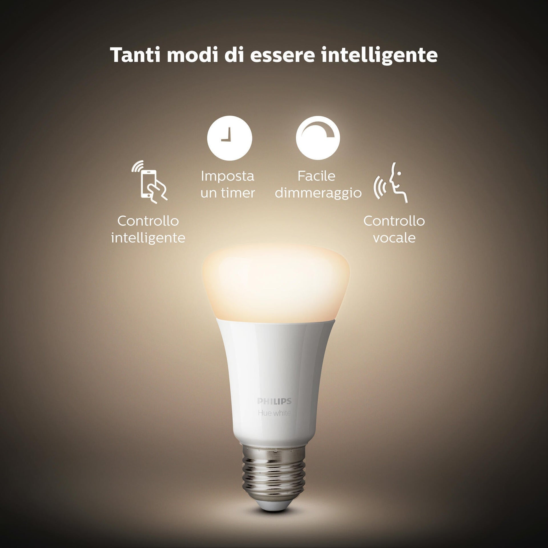 Set di 3 lampadine LED, HUE WHITE BLUETOOTH + BRIDGE + DIMMER, E27, Goccia, Opaco, Luce calda, 9W=806LM (equiv 60 W), 150° , PHILIPS HUE - 8