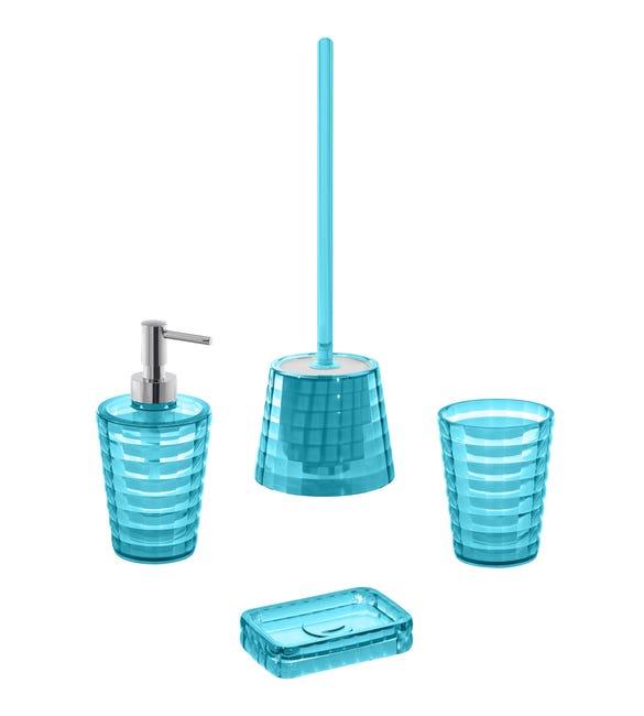 Set di accessori per bagno turchese in plastica - 1