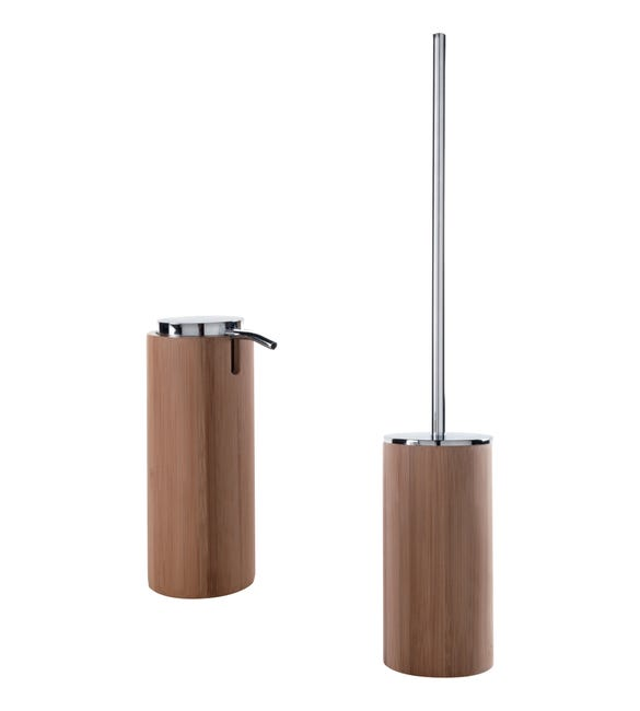 Set di accessori per bagno legno in bambù - 1