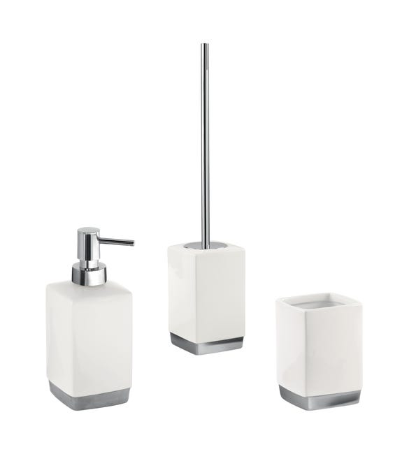 Set di accessori per bagno bianco in ceramica - 1