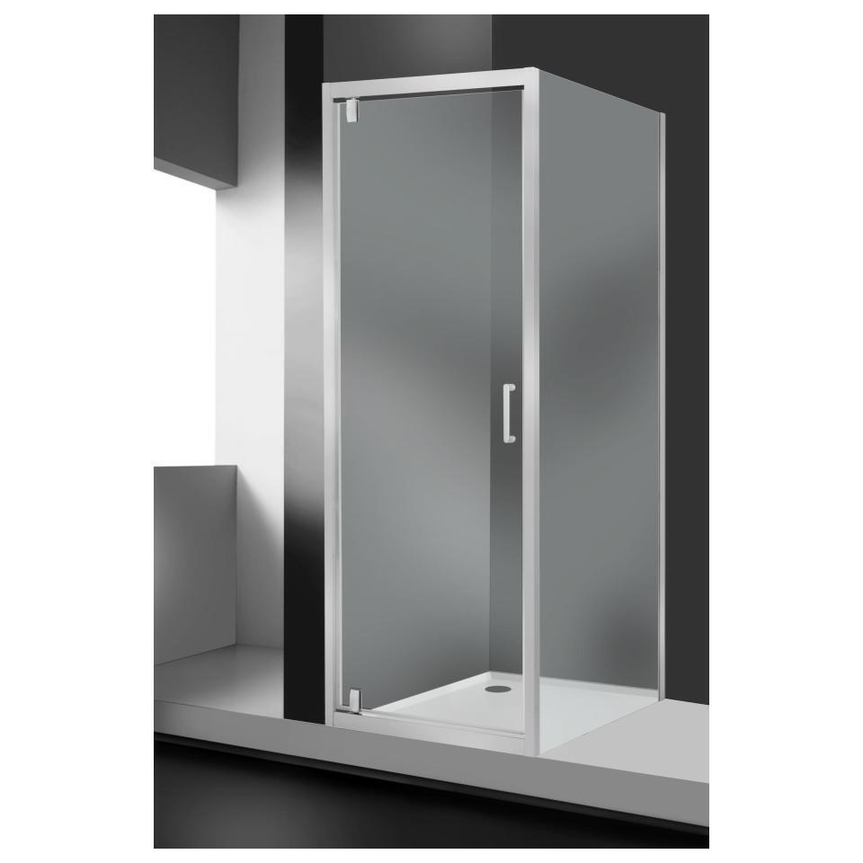 Porta doccia battente Sinque 70 cm, H 190 cm in vetro temprato, spessore 5 mm trasparente bianco - 3