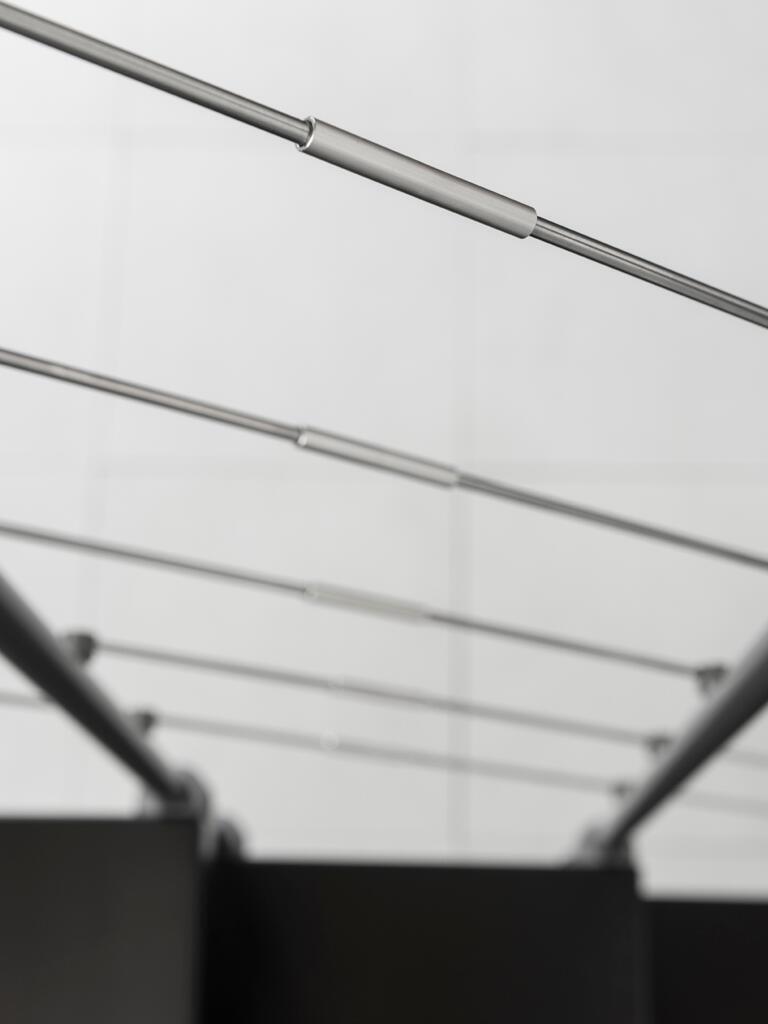 Scala a rampa 1/4 di giro Mas FONTANOT L 85 cm, gradino grigio antracite scuro, struttura antracite - 24