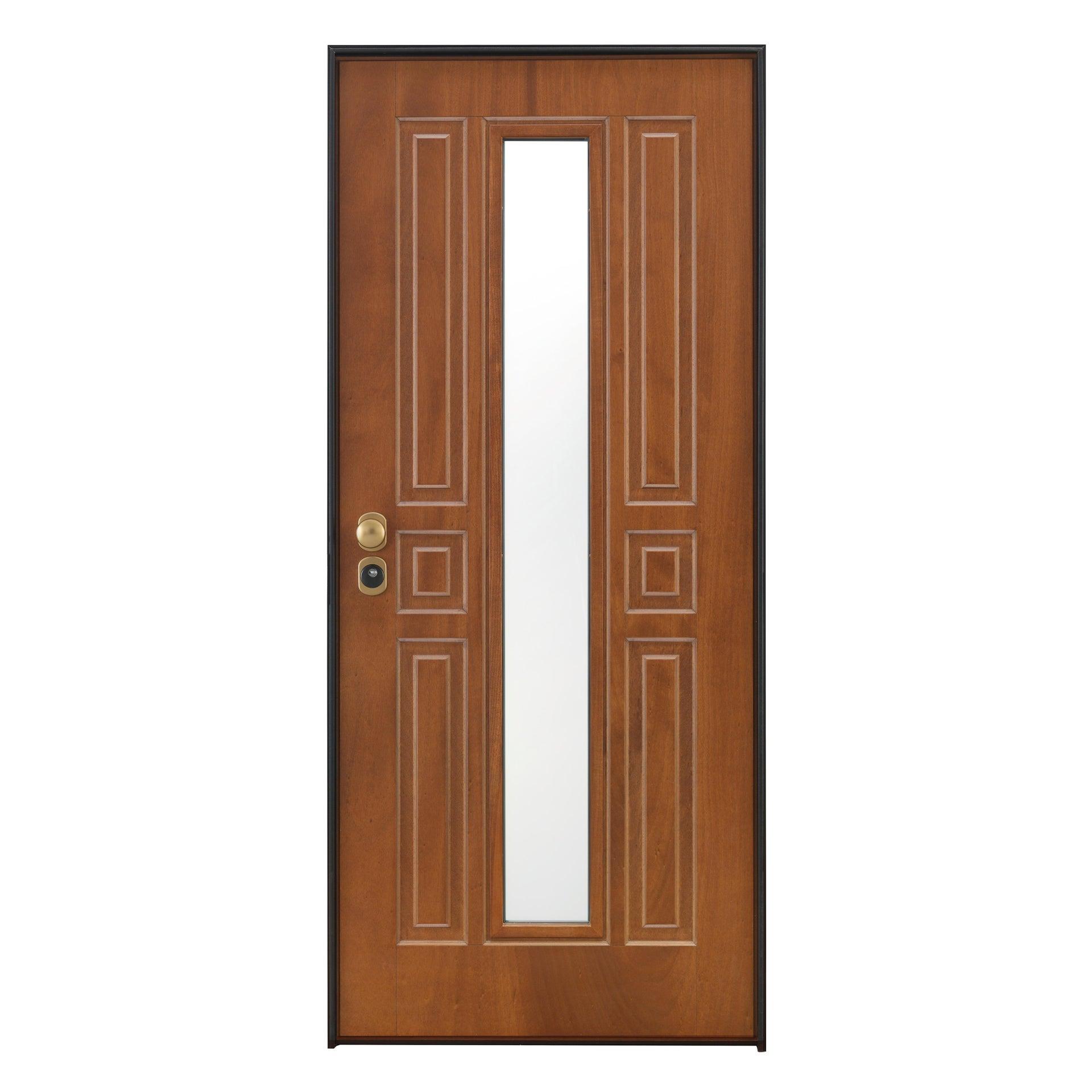 Porta blindata Mirror noce L 90 x H 210 cm destra - 5