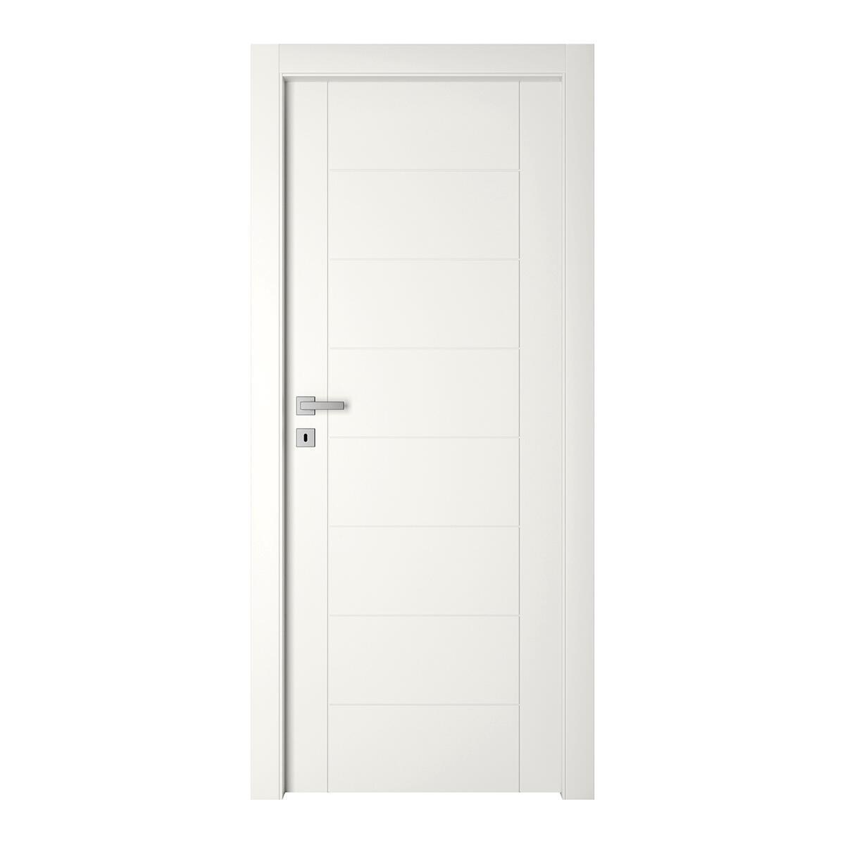 Porta a battente Chamberi bianco L 60 x H 210 cm reversibile - 7