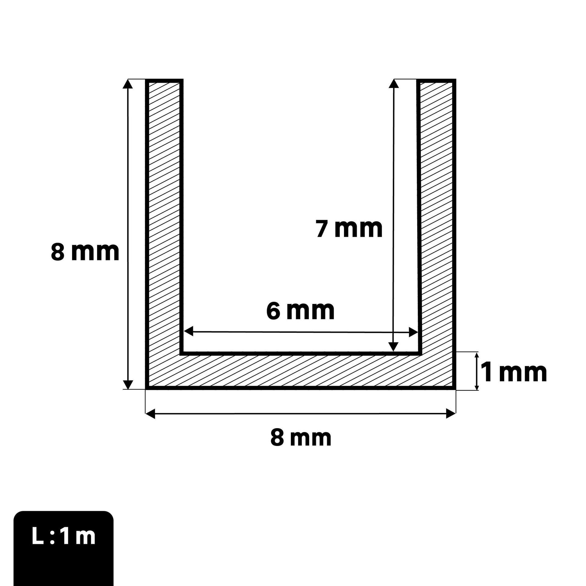 Profilo u STANDERS in alluminio 1 m x 0.8 cm grigio - 2