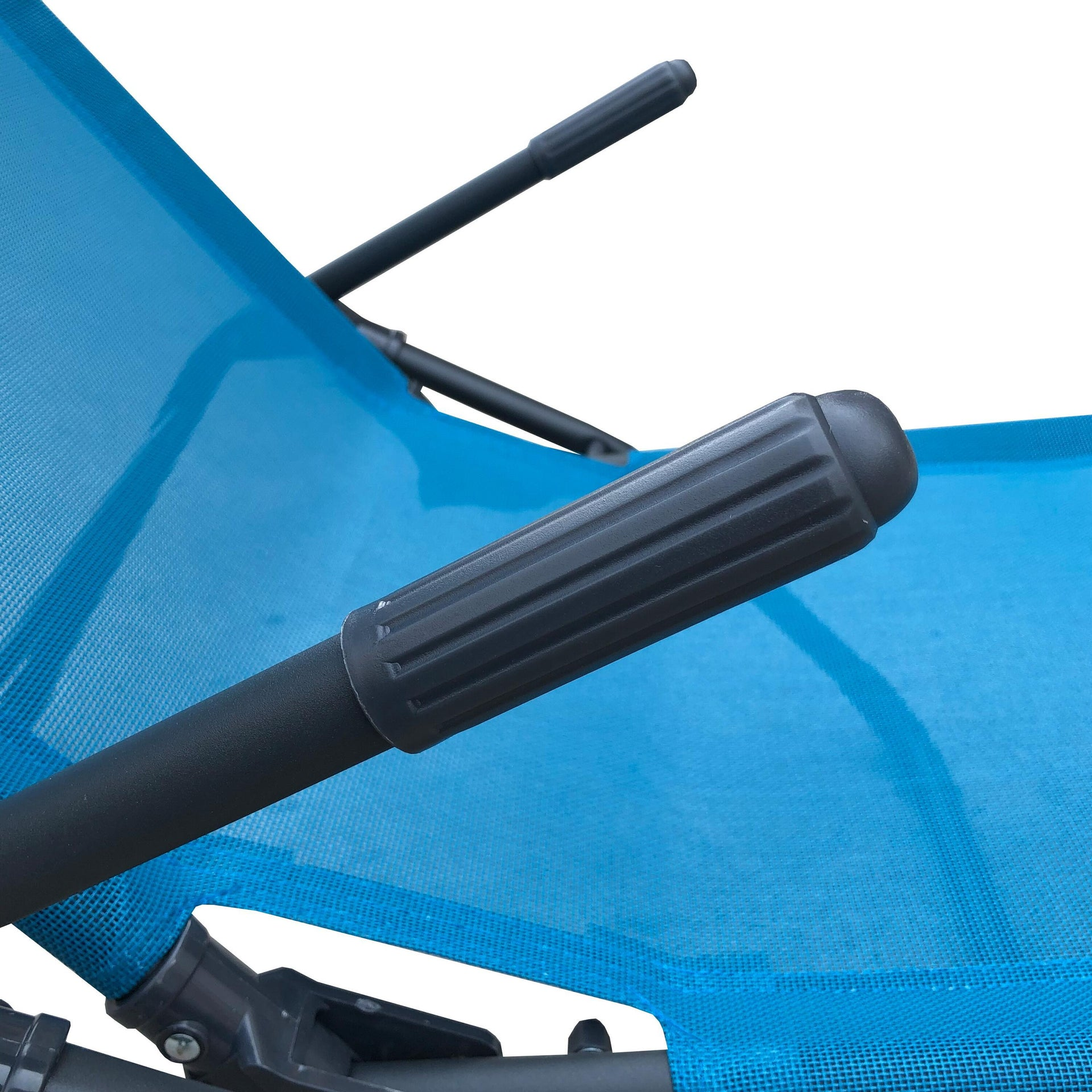 Lettino senza cuscino Fiesta in acciaio blu - 3