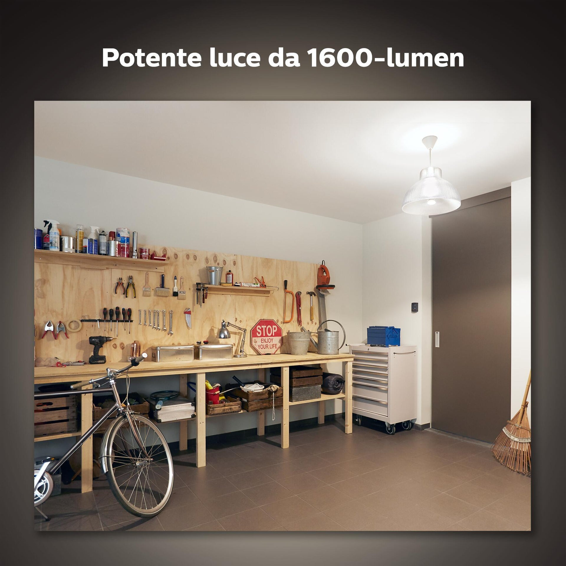 Lampadina smart lighting LED, HUE WHITE BLUETOOTH, E27, Goccia, Opaco, Luce calda, 15.5W=1600LM (equiv 100 W), 150° , PHILIPS HUE - 4