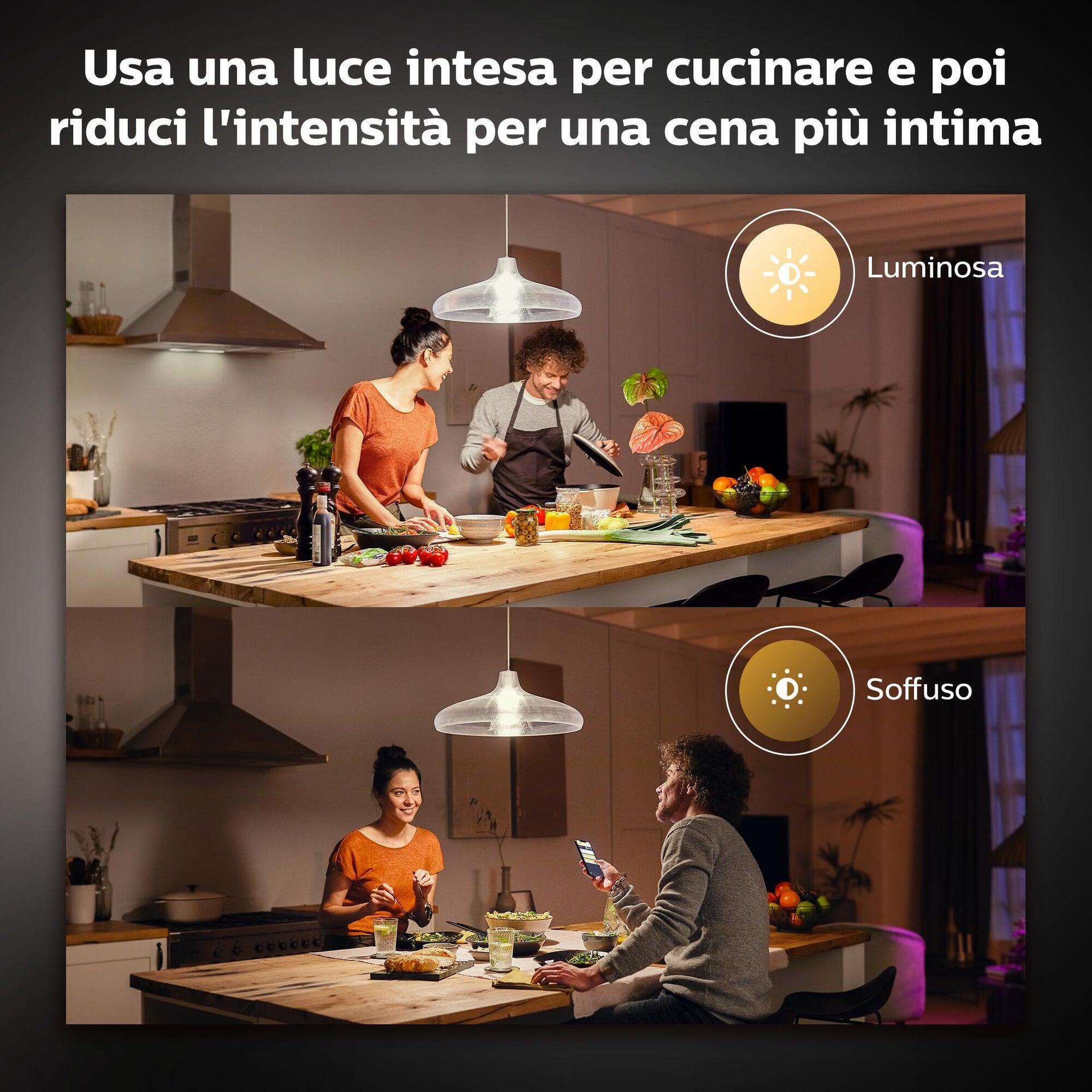 Lampadina smart lighting LED, HUE WHITE BLUETOOTH, E27, Goccia, Opaco, Luce calda, 15.5W=1600LM (equiv 100 W), 150° , PHILIPS HUE - 12