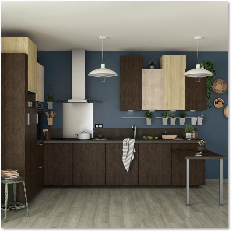 Porta dell'armadio da cucina DELINIA ID Siena 59.7 x 76.5 x 76.5 cm rovere moro - 4