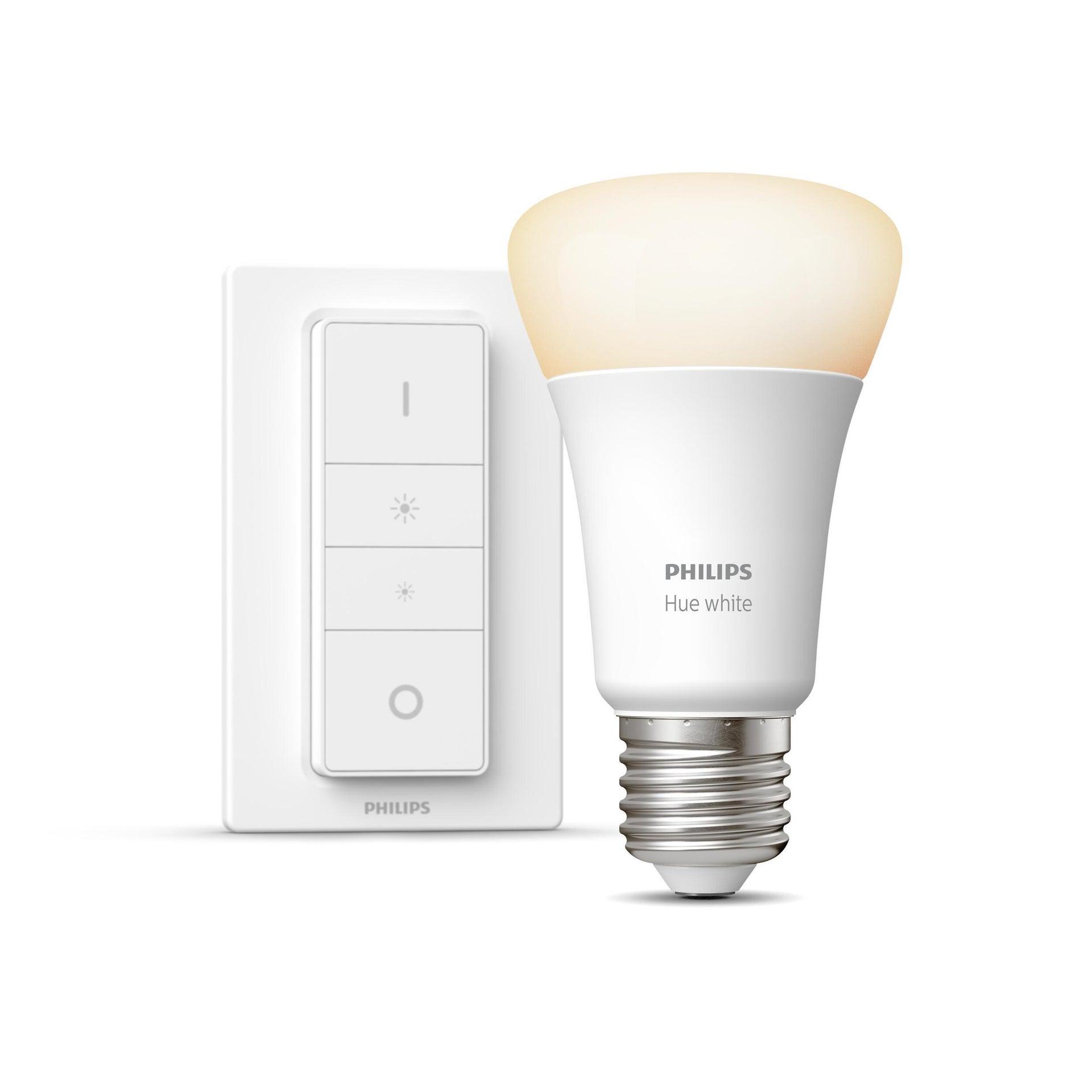 Lampadina collegato LED, HUE WHITE BLUETOOTH + TELECOMANDO, E27, Goccia, Opaco, Luce calda, 9W=806LM (equiv 60 W), 150° , PHILIPS HUE - 4