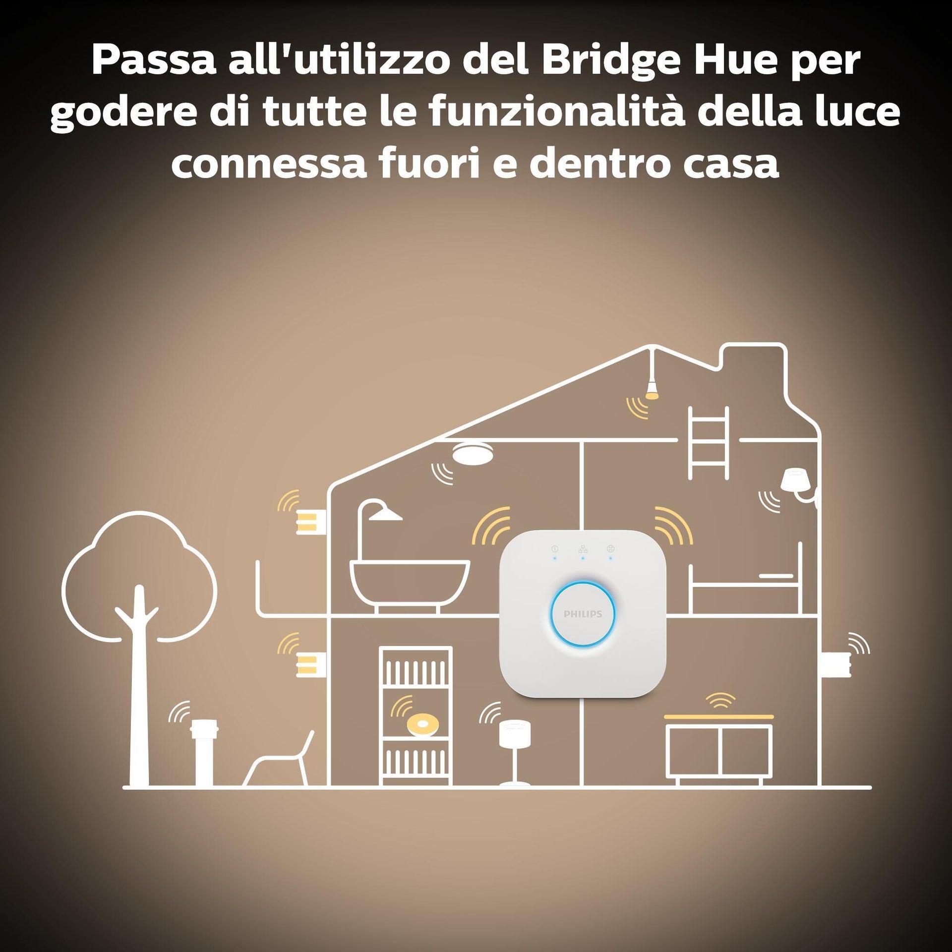 Set di 3 lampadine LED, HUE WHITE BLUETOOTH + BRIDGE + DIMMER, E27, Goccia, Opaco, Luce calda, 9W=806LM (equiv 60 W), 150° , PHILIPS HUE - 9