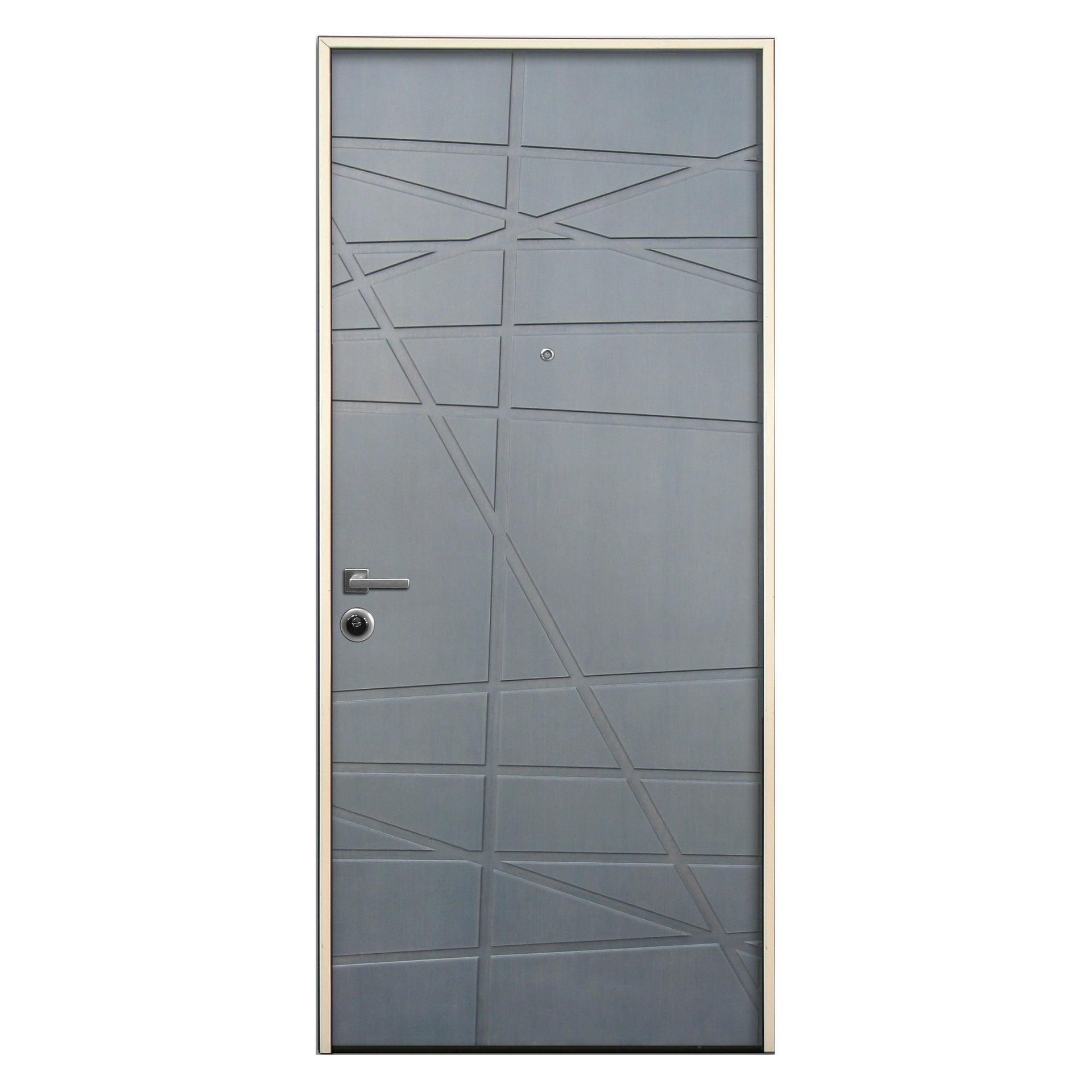 Porta blindata Invisible grigio L 90 x H 210 cm destra - 3