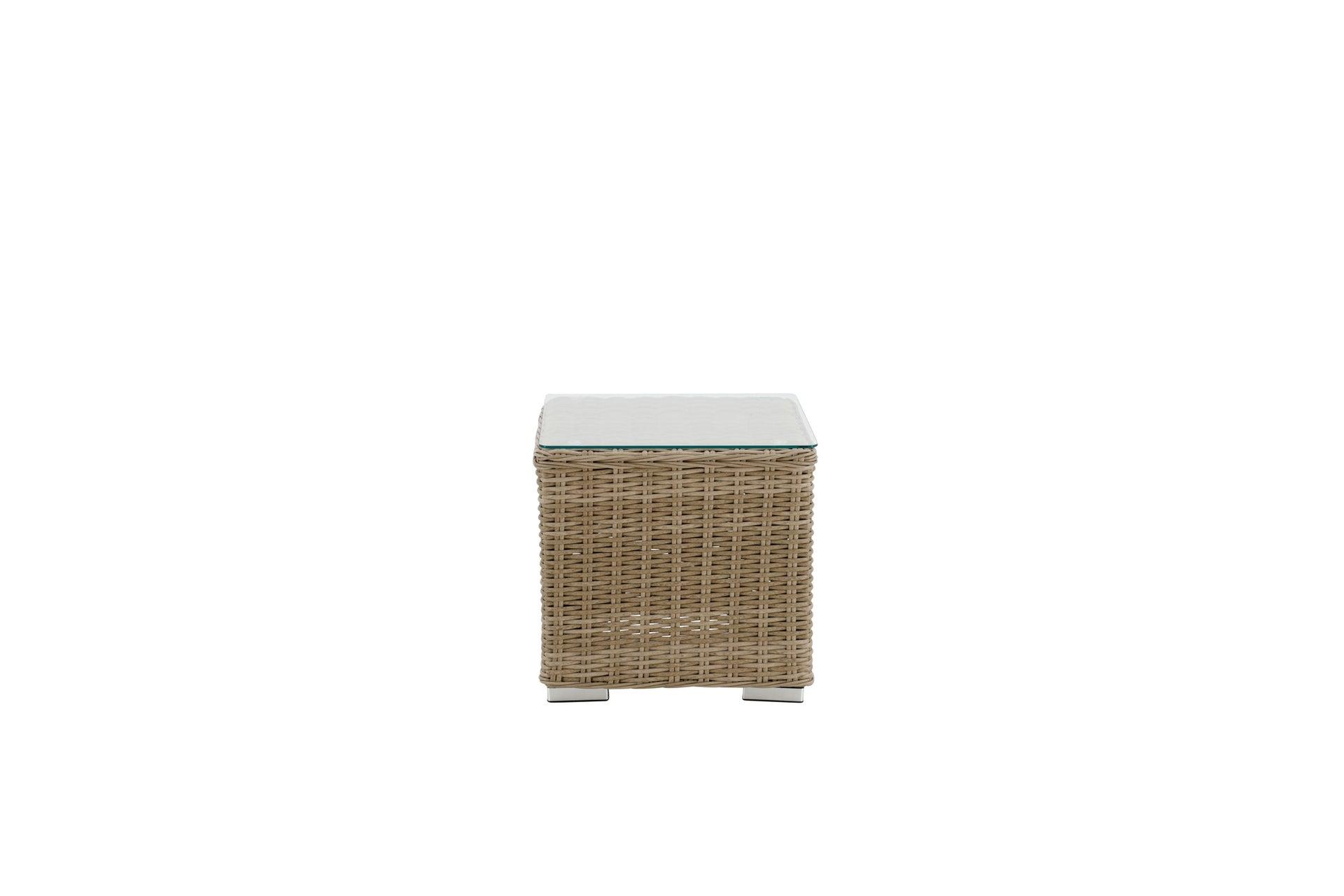 Tavolino da giardino quadrata Costarica NATERIAL con piano in vetro L 45 x P 45 cm - 2