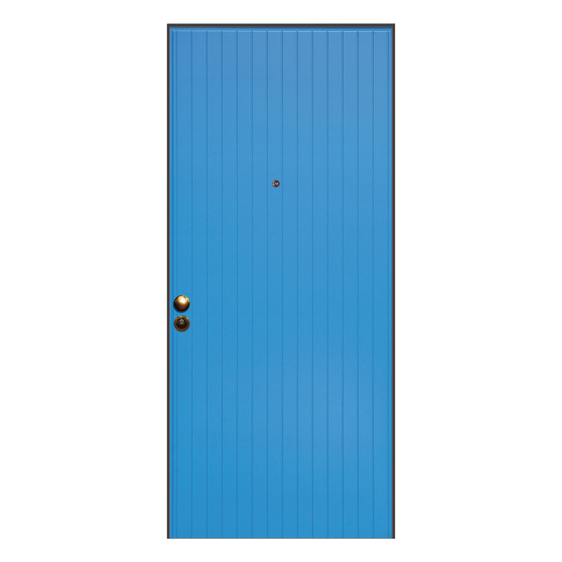 Porta blindata Grecia azzurro L 90 x H 210 cm destra - 4