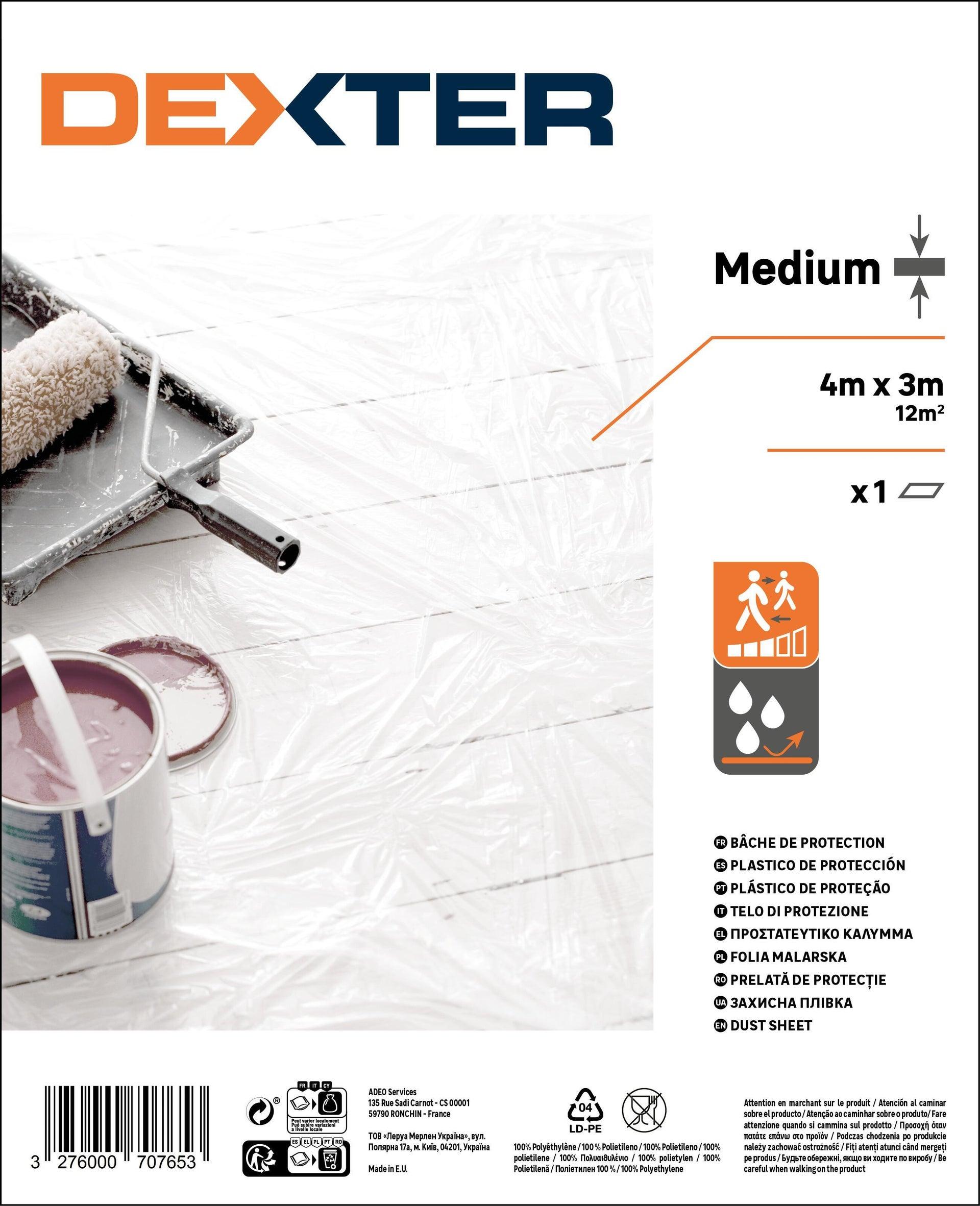 Telo di protezione DEXTER 4 X 3 m traslucido - 5