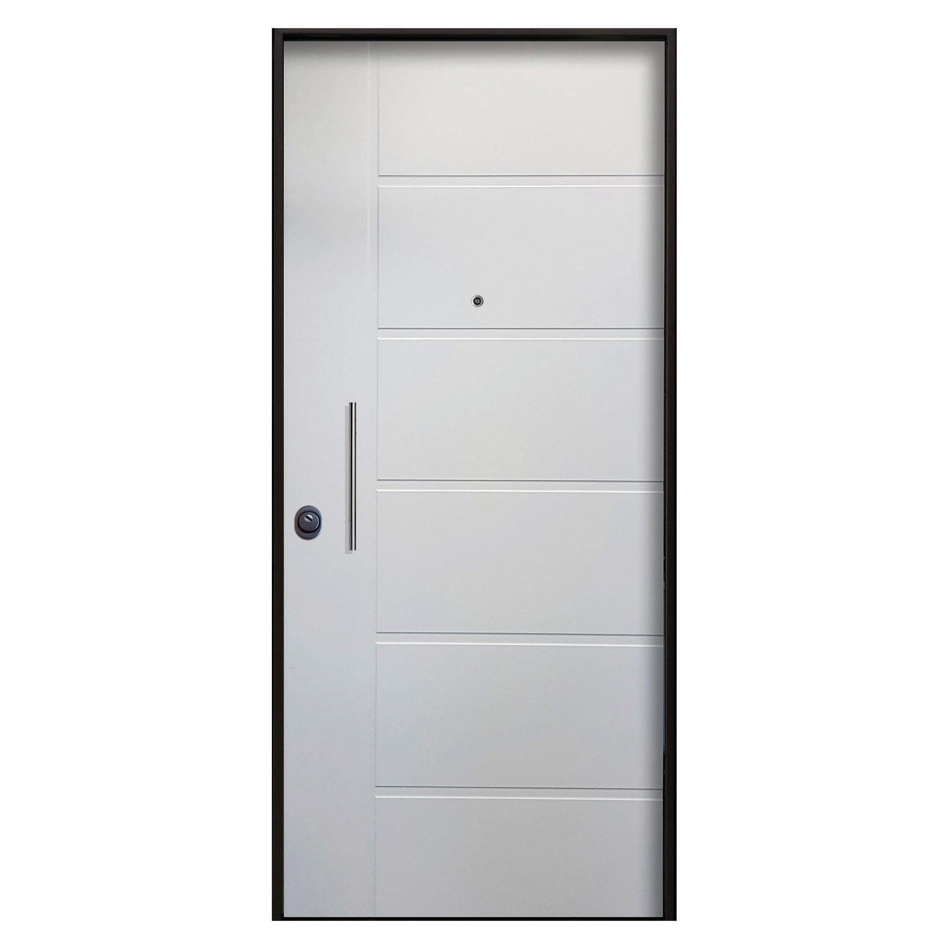 Porta blindata Sweet bianco L 80 x H 210 cm destra - 4