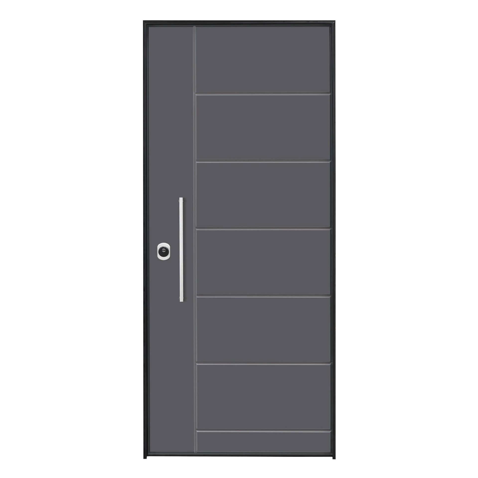 Porta blindata Termika grigio L 90 x H 210 cm destra - 7
