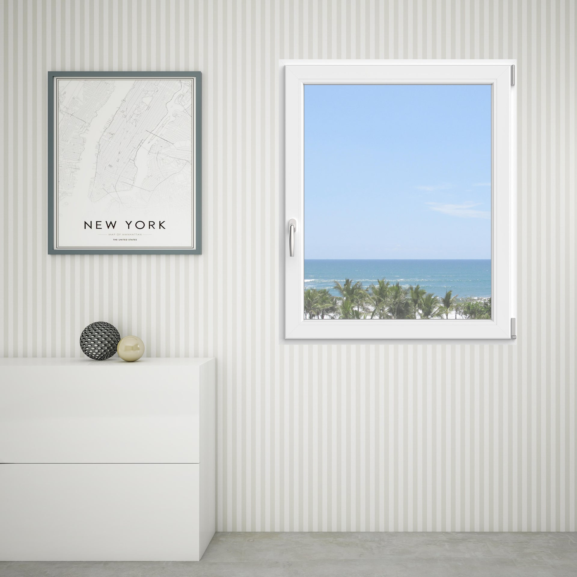 Finestra in pvc bianco L 100 x H 120 cm, 1 anta oscillo-battente apertura destra - 2