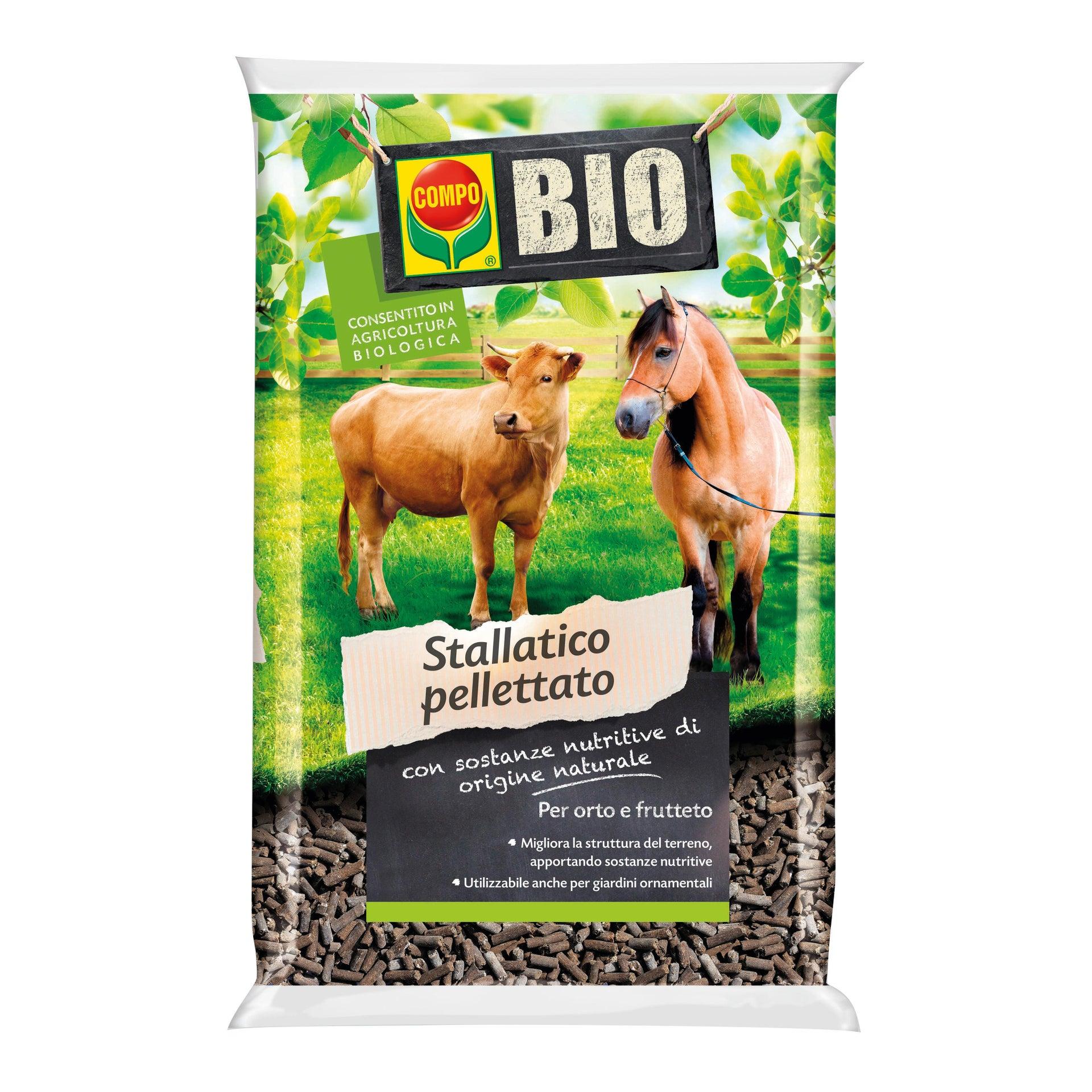 Concime bastoncini COMPO Bio stallatico pelletato 15 kg - 1