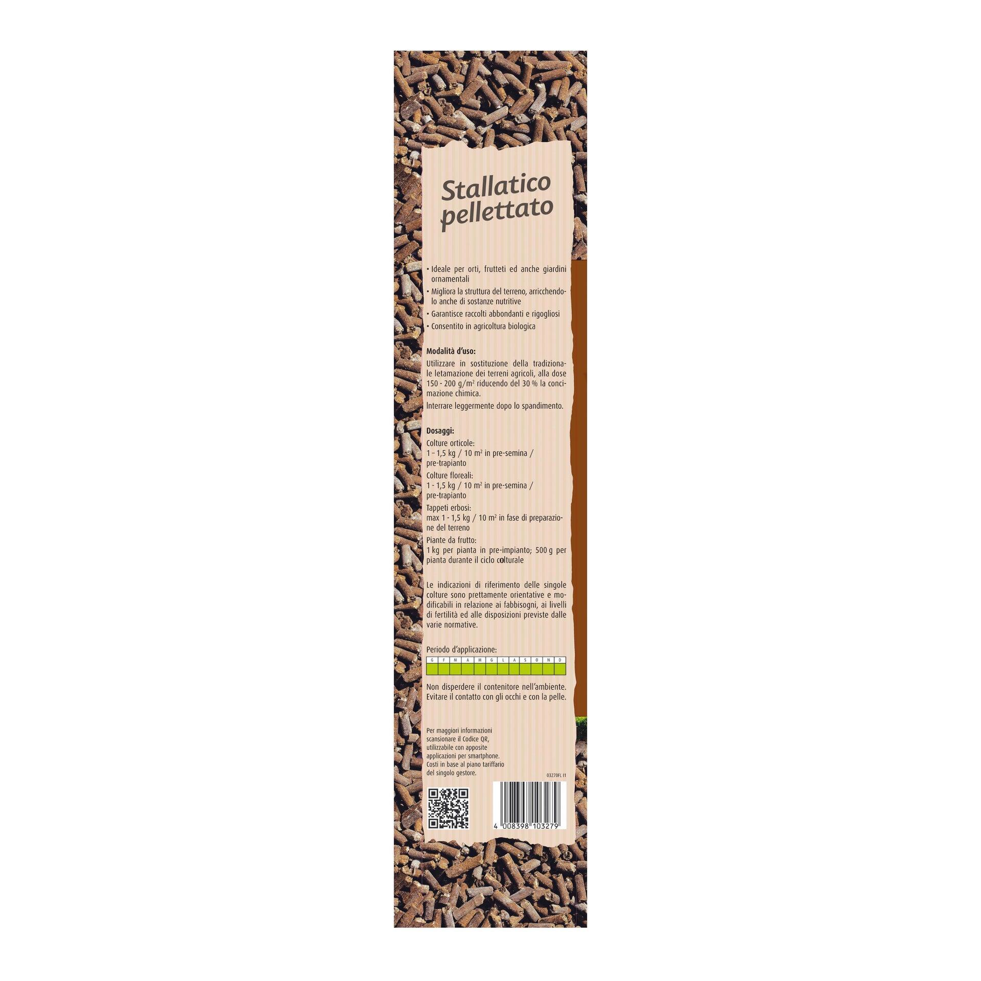 Concime bastoncini COMPO Bio stallatico pelletato 15 kg - 3