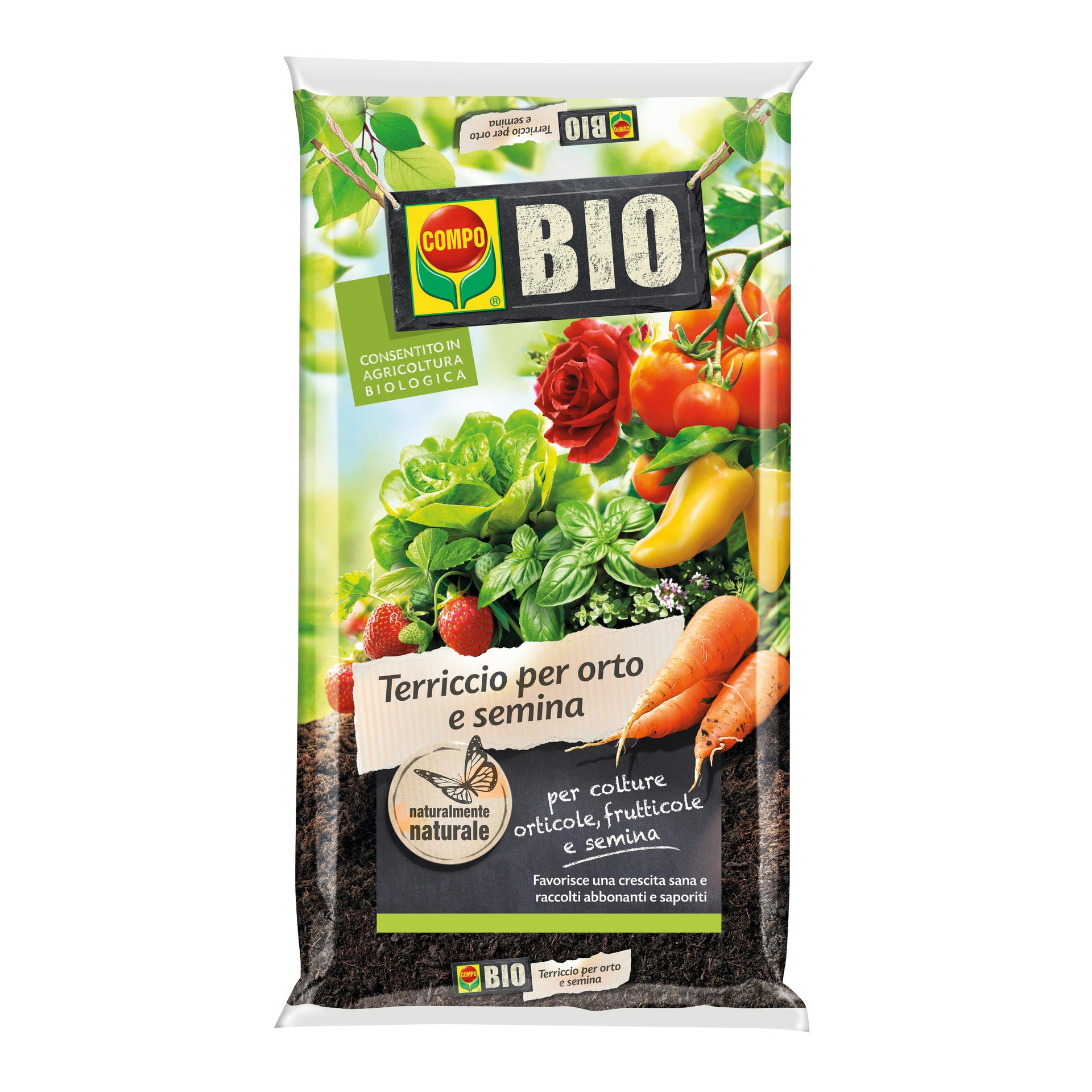 Terriccio COMPO Orto semina bio 80 L - 2