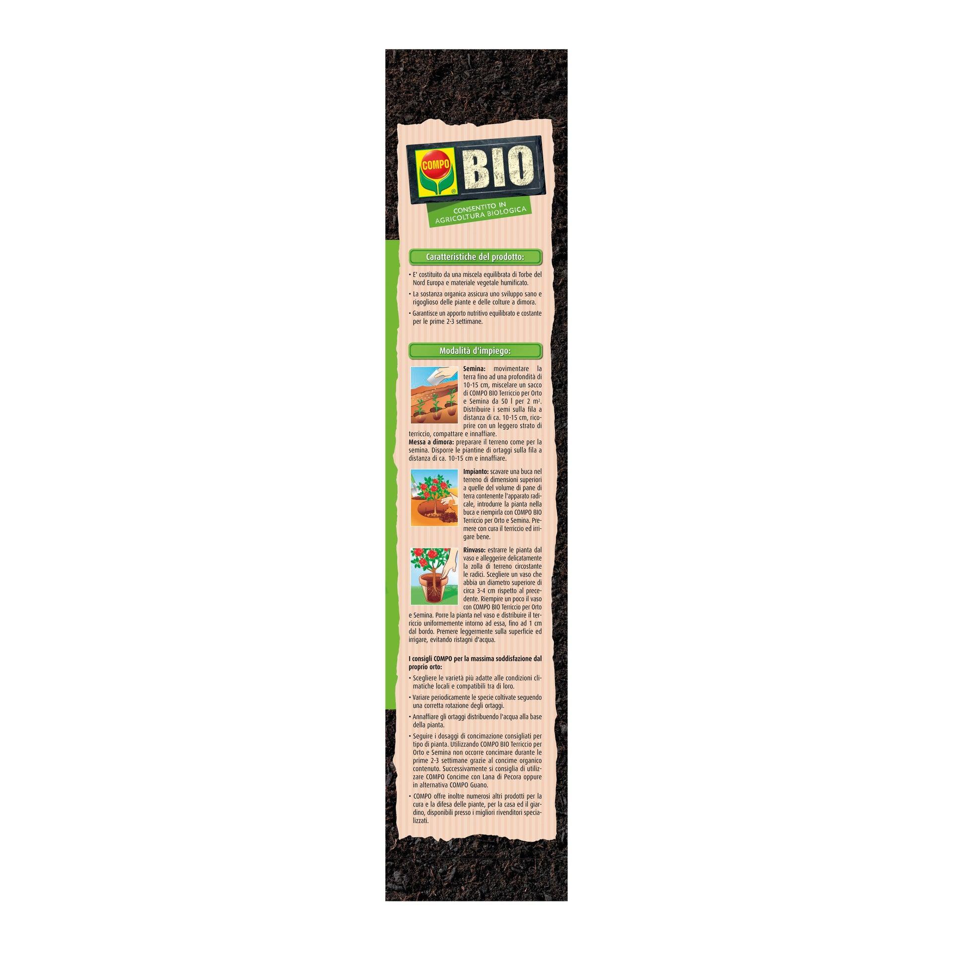 Terriccio COMPO Orto semina bio 80 L - 4
