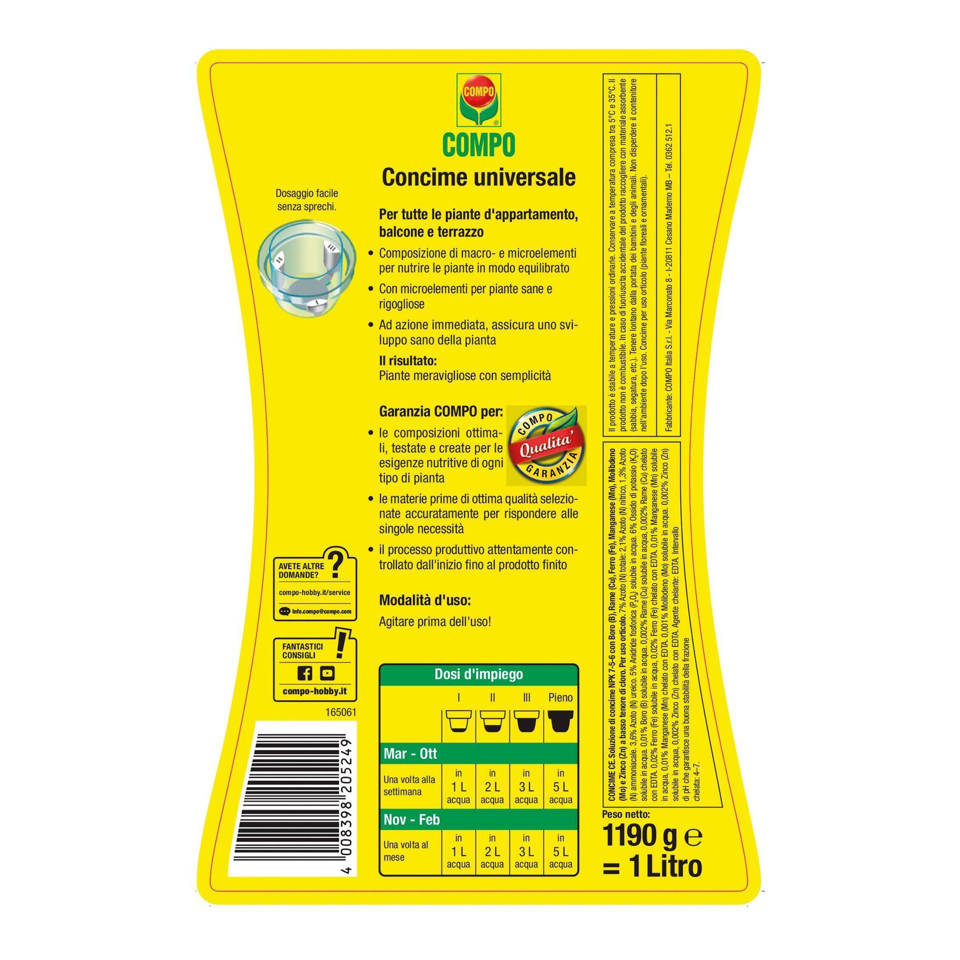 Concime liquido COMPO 1 L - 4