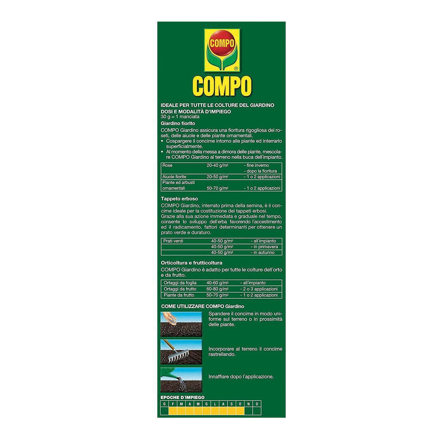 Concime granulare COMPO 4 Kg - 4