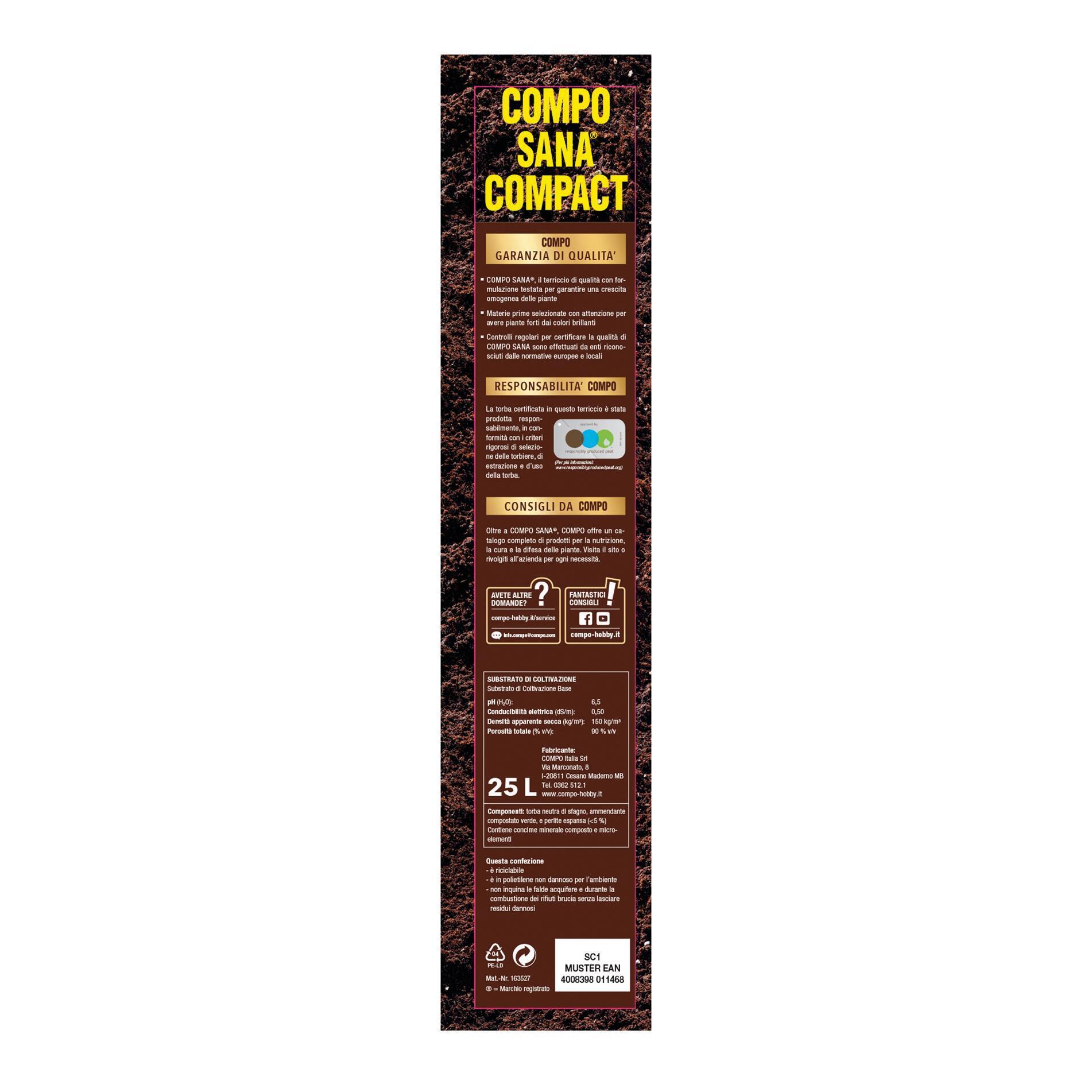 Terriccio COMPO Sana Compact 25 L - 3