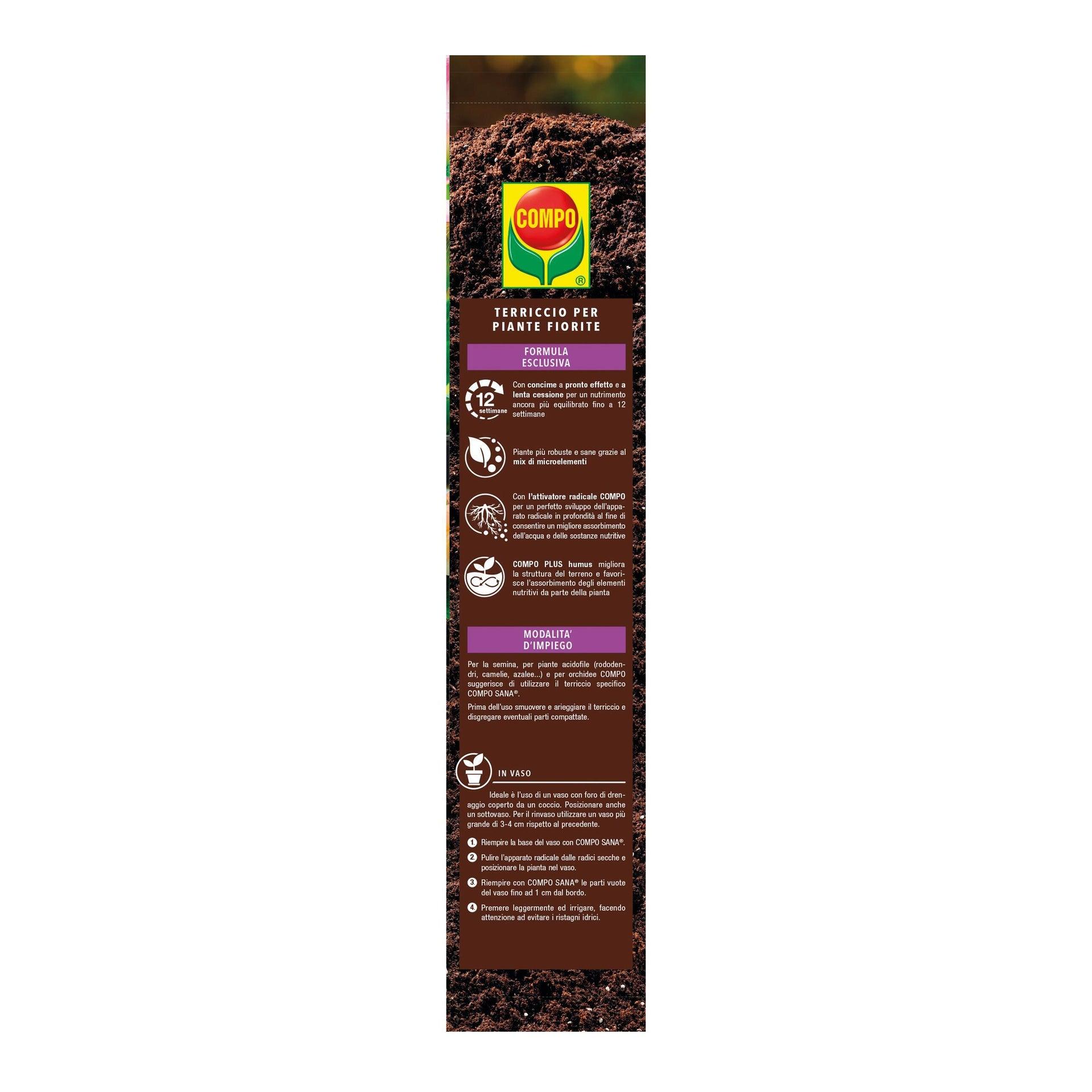 Terriccio COMPO Sana per Piante Fiorite 20 L - 2