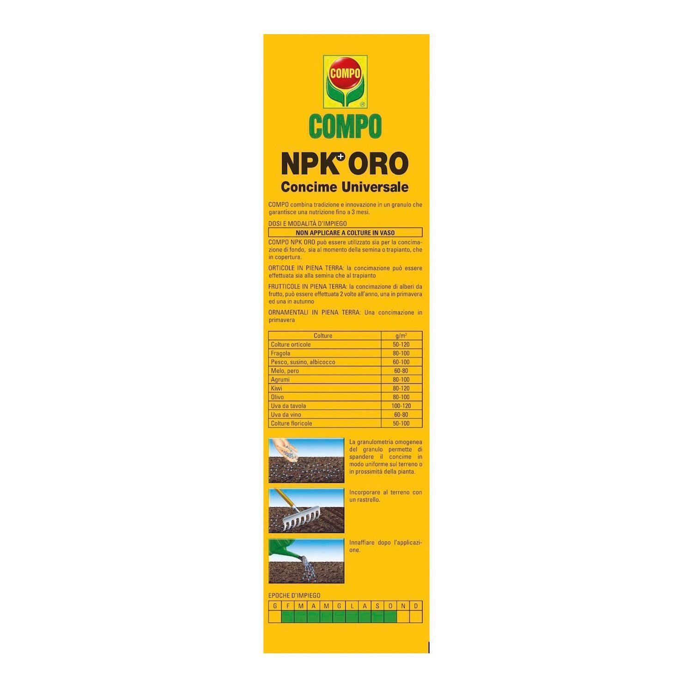Concime granulare COMPO Npk oro 5 Kg - 4