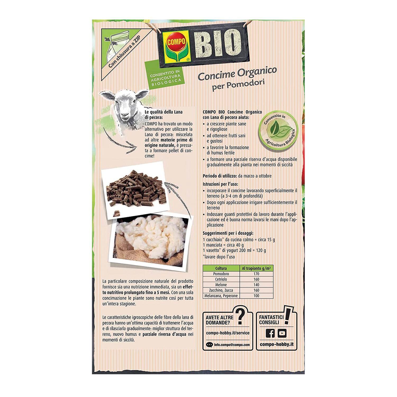 Concime organico granulare COMPO Bio per pomodori 750 Gr - 4