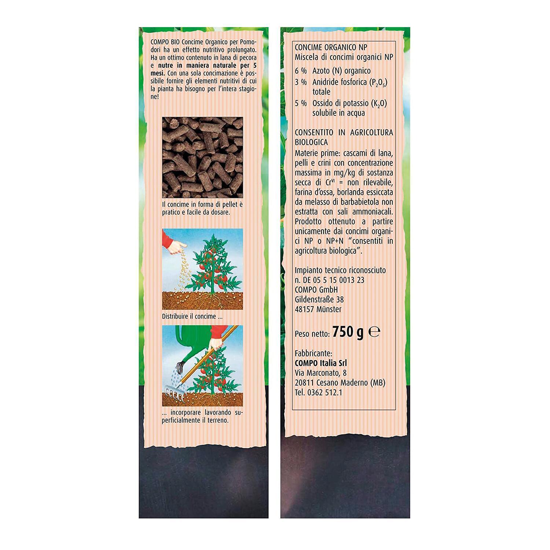 Concime organico granulare COMPO Bio per pomodori 750 Gr - 3