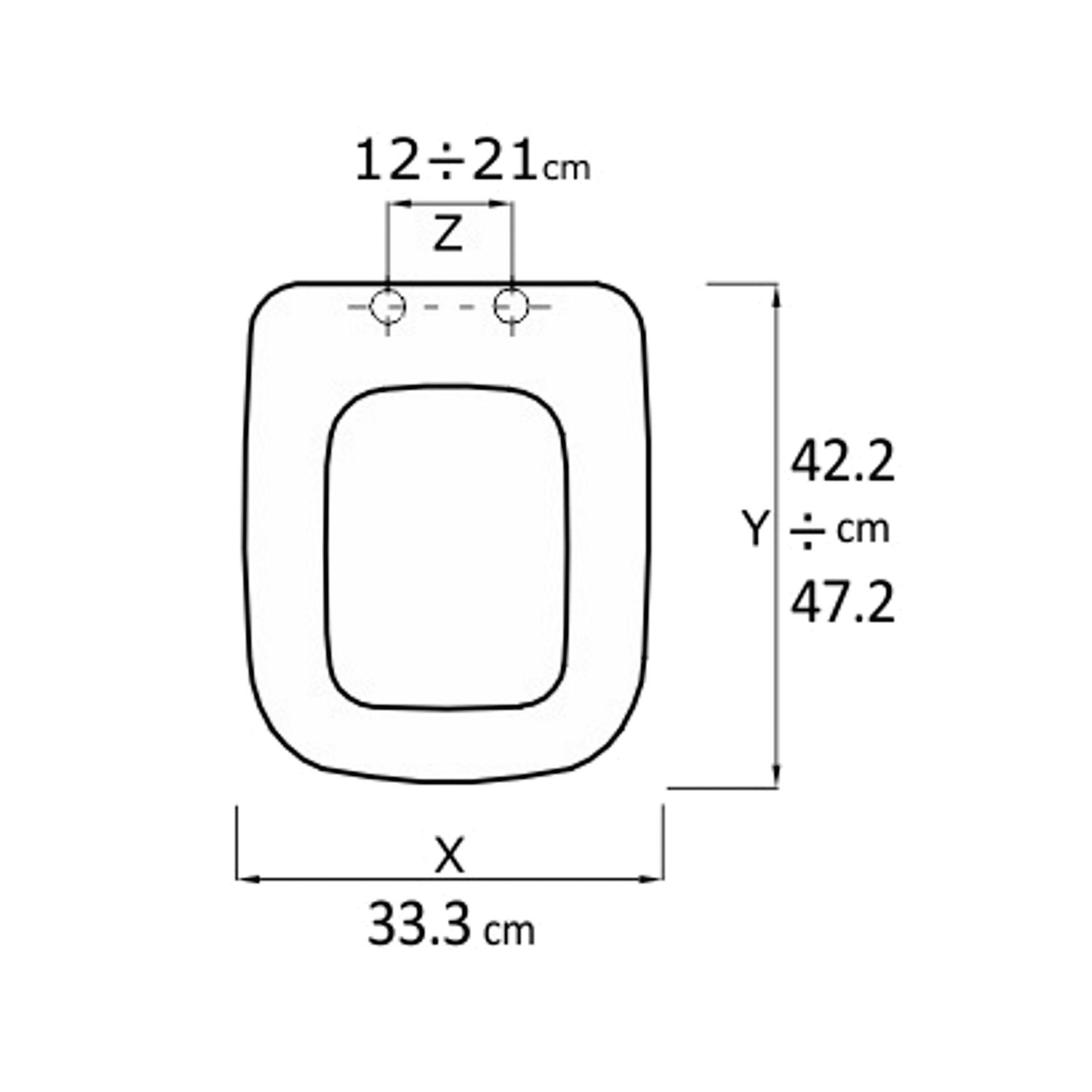 Copriwater rettangolare Universale Conca mdf bianco - 4