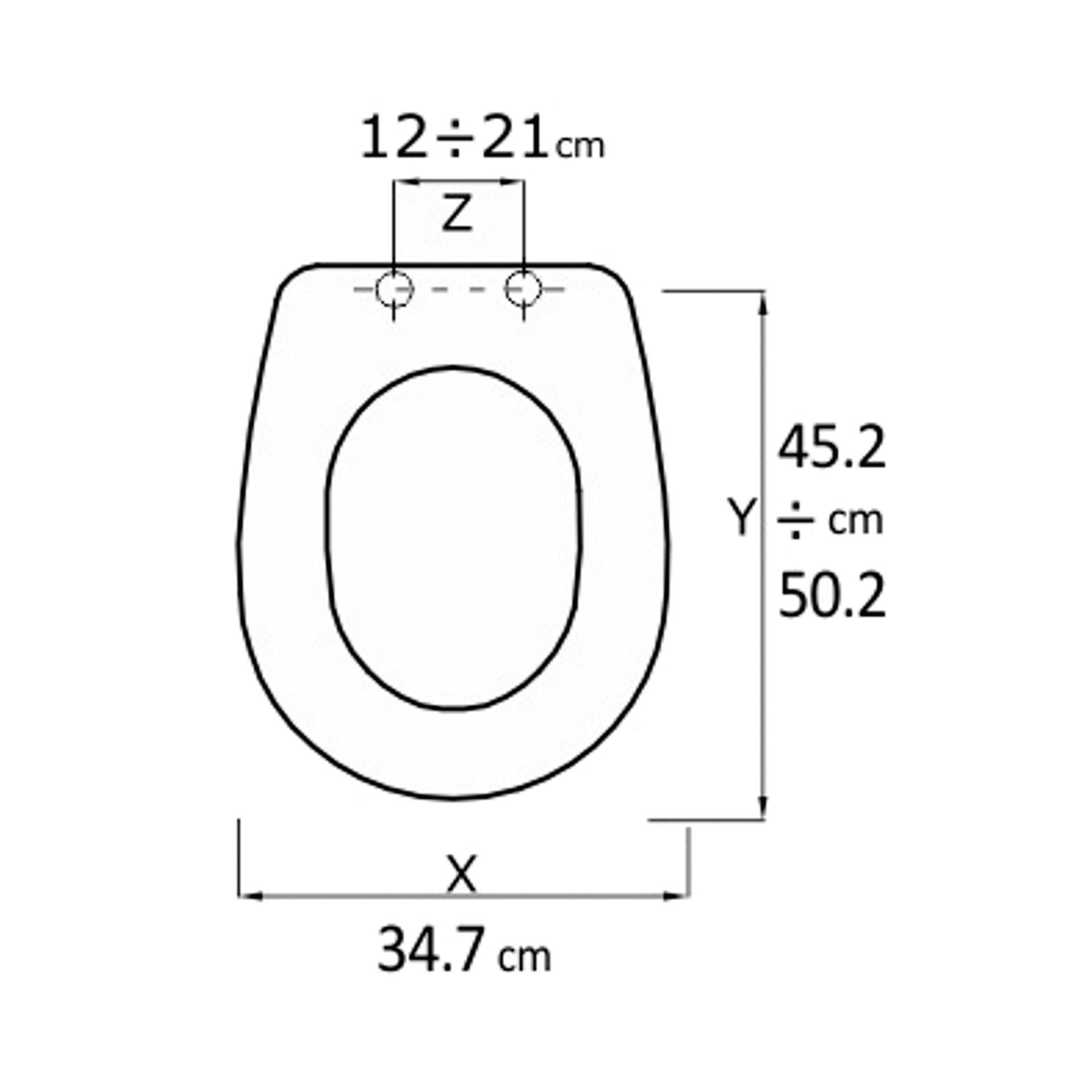 Copriwater ovale Universale Liuto mdf bianco - 2