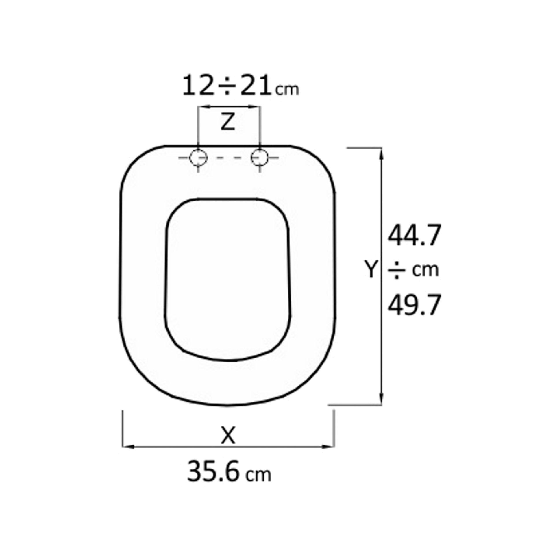 Copriwater rettangolare Universale Oasi mdf bianco - 4