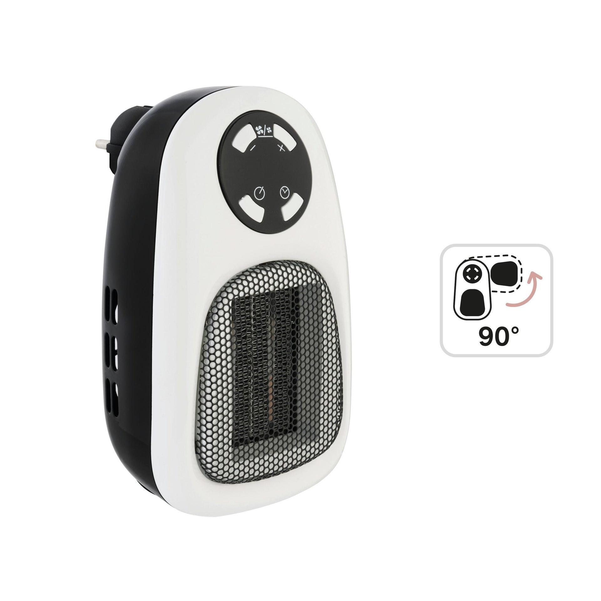 Termoventilatore elettrico EQUATION Handy nero 500 W - 5