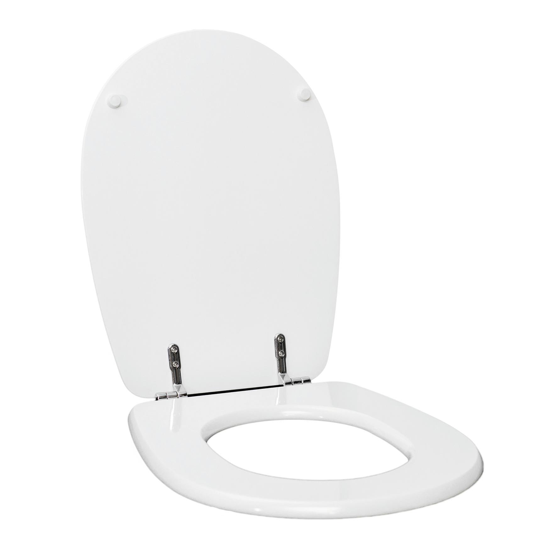 Copriwater ovale Universale Liuto mdf bianco - 3