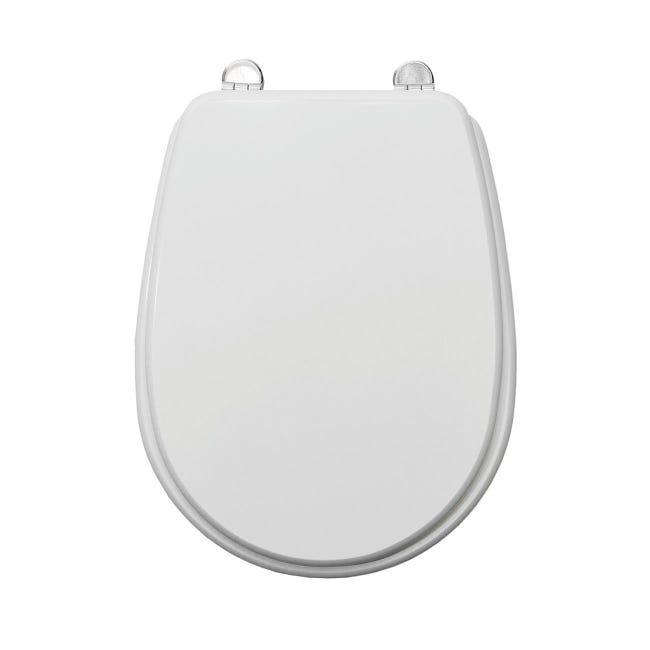Copriwater ovale Universale Liuto mdf bianco - 1