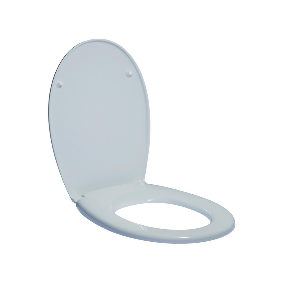 Copriwater ovale Originale per serie sanitari Miky New IDEAL STANDARD termoindurente bianco - 8
