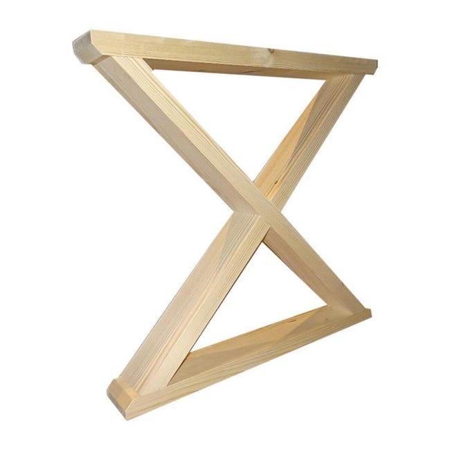 Piedi fissi legno naturale levigato L 105 mm x P 790 mm H 74 cm - 1