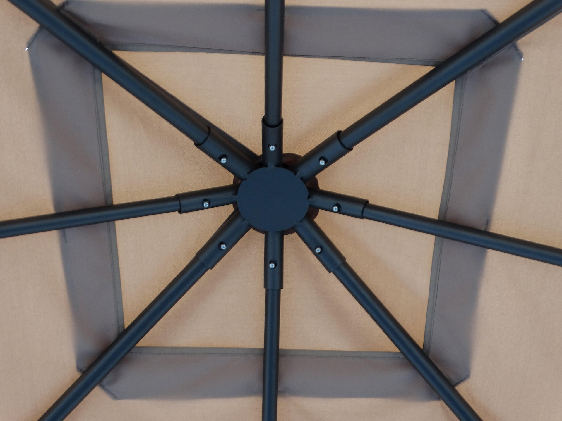 Gazebo acciaio Komo beige L 300 cm x P 300 cm, H 2.6 m - 3