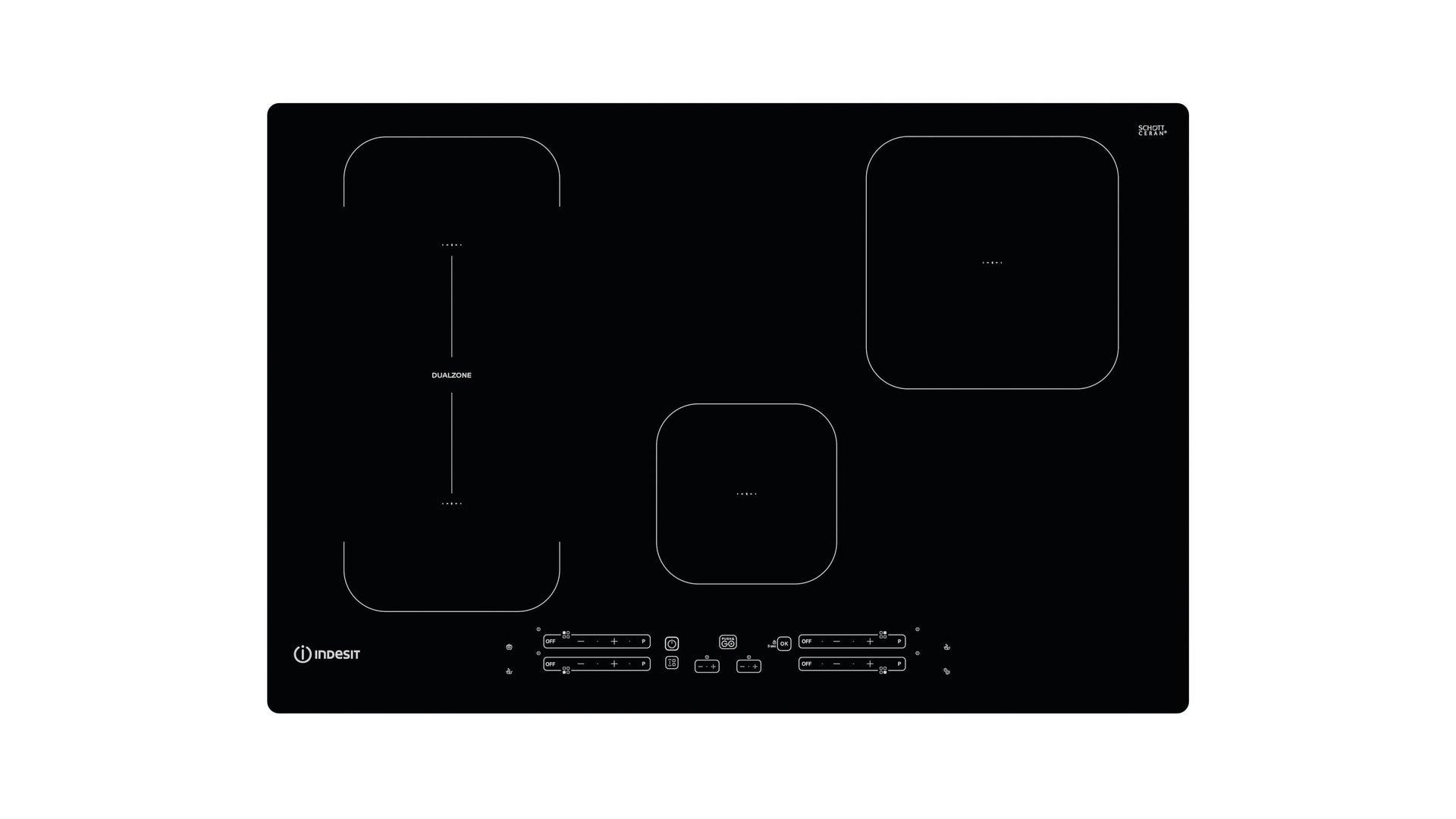 Piano cottura induzione 75 cm INDESIT IB 21B77 NE - 1