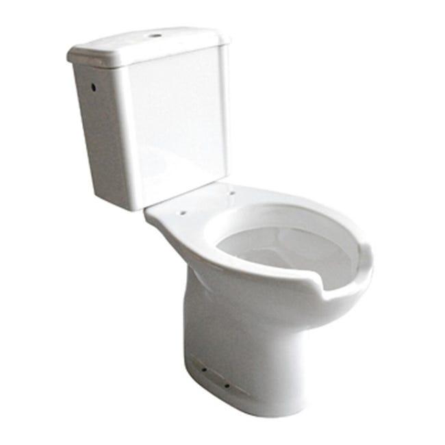 Vaso WC monoblocco Per disabili - scarico pavimento - 1