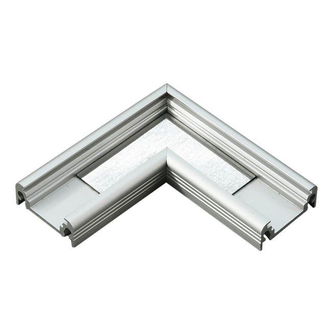 Connettore per profilo strisce led, grigio / argento, 2 m - 1