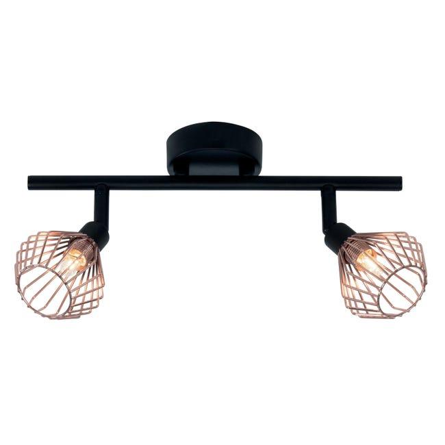Barra di faretti Dalma rame, nero, in metallo, G9 2x33W IP20 BRILLIANT - 1