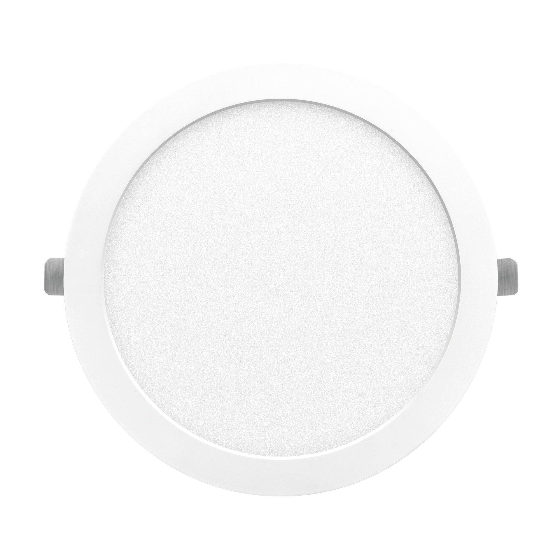 Faretto fisso da incasso tondo Valentine bianco, diam. 21.5 cm LED integrato 18W 1550LM IP20 - 1