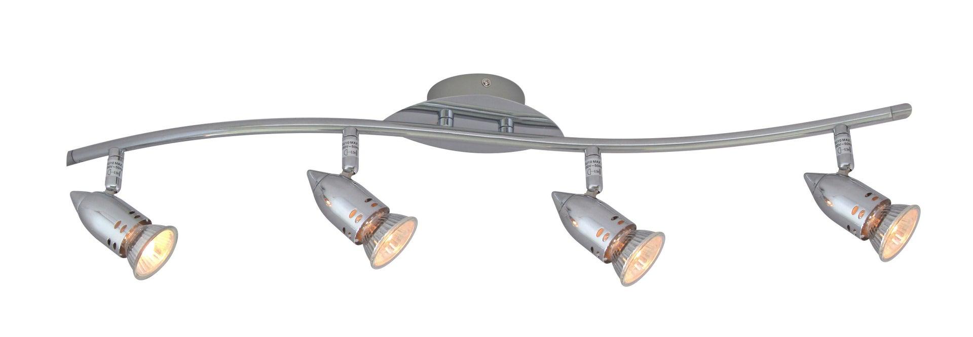 Barra di faretti BOMBER cromo, argento, in metallo, GU10 4x50W IP20 INSPIRE - 6