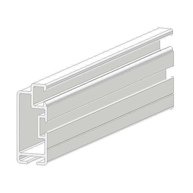 Profilo Sistema in alluminio 2.5 m x 2.5 cm bianco - 1